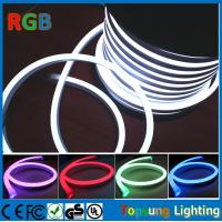 China 220V RGB  Full Color changing LED Neon Rope Flexible PVC Tube light (14*26mm) on sale