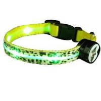 Buy cheap PU Leather LED Dog Collar (Yellow) from wholesalers