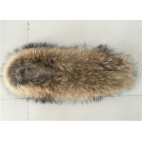 Cheap Large Detachable Raccoon Hood Trim , Natural Color Overcoat Fur Collar  for sale