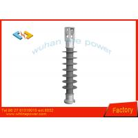 Grey Composite Suspension Insulator , High Voltage Power Line Insulators