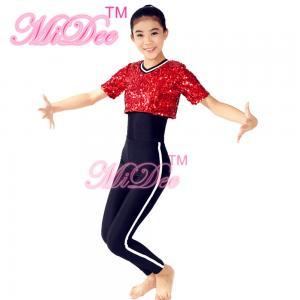 China Sequins Short T-Shirt Hip Hop Dance Costumes Jazz & Tap Dance Dress Gymnastics Sport Clothing  For Girls on sale