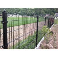 Best 656 / 868 Double Wire Mesh Fence , Wire Fence Gate Round Post 50MM wholesale