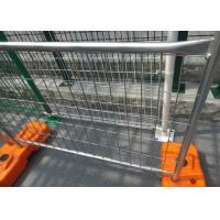 Buy cheap Road Site Safe Galvanized Temporary Fence Removable Feet Makes Transportation Easier from wholesalers