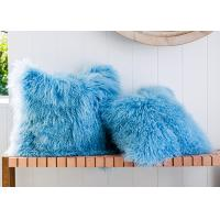Best Customized Mongolia Sheepskin Fur Pillow Home Decorative Throw 20 X 20 wholesale