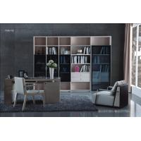 Best Cheap Apartment room Fashion Home office Furniture Study Computer Reading table and Glass door bookcase with wood Shelve wholesale