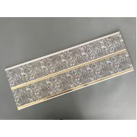Best Dark Gray Printing PVC Wall Panels With Golden Lines Recyclable Material wholesale