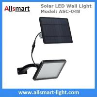Best 18W Solar LED Wall Light with LiFePO4 Battery Separate Solar Panel 3m Wire Adjustable Angle 48LED Solar Garden Light wholesale