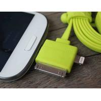 Best Double Ended Flat Noodle Samsung Multifunction 3 In 1 Usb Charging Cable Green wholesale