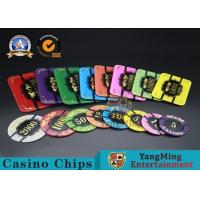 Best Square Crystal Acrylic Poker Chips With Custom Logo / Super Touch Texture Poker Plaque wholesale