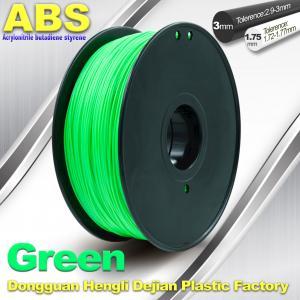 Best Customized Green1.75mm / 3.0mm 1.0KgG / roll ABS 3D Printer Filament wholesale