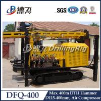 Best DFQ-400 DTH impacter water well drilling machine for rock area, 400m DTH Drilling Rig for Sale wholesale