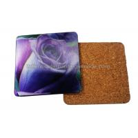 Cheap 3D Lenticular Placemats Cork Backed Heat Resistant  EVA / Cork Coaster PET 0.6mm Thickness for sale