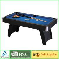 Best Foosball football game table / 15mm MDF bedplate with blue billiard cloth wholesale