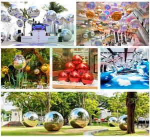 Best Mall Decoration Mini Reflective Mirror Disco Ball PVC Rainbow Colorful Big Inflatable Balls Mirror wholesale