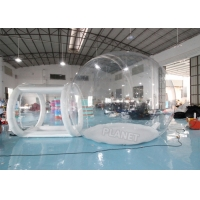 Best 4mDia Transparent Clear Inflatable Dome Bubble Camping Tent With Airtight Tunnel wholesale