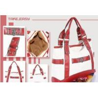 China New bicolor designer with high quality ITALY PU material shoulder bag0039# red on sale