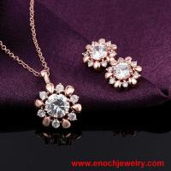 Handmade korean Model Zircon Stone Gold Plated Fashion Jewelry in Chile