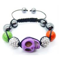 Best Multicolor Turquoise Skull Beaded Bracelet,Turquoise Material,Semi Precious Gem Jewelry   wholesale
