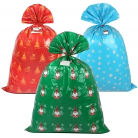 """Best 36X44"""" Plastic Christmas Gift Bags For Festival Packing wholesale"""