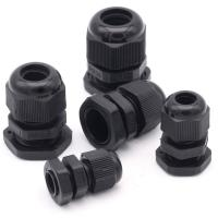 Best Water Proof Outdoor Cable Accessories , Black Cable Gland Connector wholesale