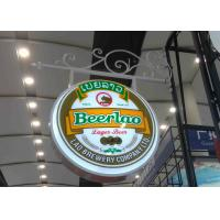 Best Aluminum Frame Vacuum Forming Light Box / Pub Beer Light Box Waterproof With Hanging Sign Iron Bracket wholesale