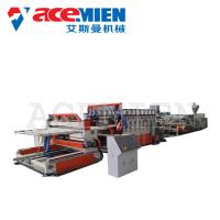 Best PVC Foam Plate Making Machine 25m*5m*3m With Forming Table Tracking Cutter wholesale