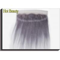 Best Purple Grey Human Hair Lace Frontal Straight Pre - Plucked Lace No Chemical wholesale