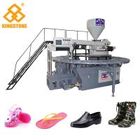 Best One Color PVC Crystal Plastic Shoes Making Machine With Oil Pressure Circuit Design wholesale
