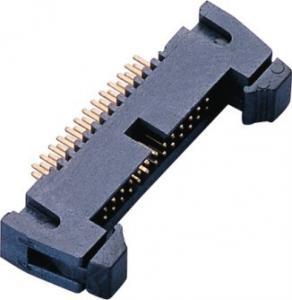 Best 1.27mm 2*13P DIP Latch Header PA9T Black GF UL94V-0 AU Sn over Ni wholesale