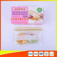 Best Seals Tight Plastic Ziplock Snack Bags Reuseable With Private Lable wholesale
