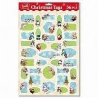 Best Christmas Present Tags with 36 Pieces Per Sheet wholesale