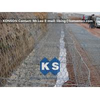 Best Zinc Coated Wire Mesh Fence , Stainless Steel Wire Galvanized Hexagonal Gabions wholesale