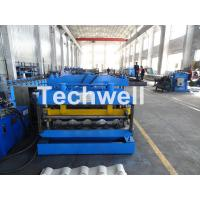 Best Metal Glazed Wave Tile Roll Forming Machine With Welded Wall Plate Frame and Chain Drive wholesale