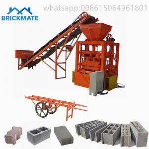 China Best selling low price QT 4-24 Semi auto cement brick machinein sri lanka concrete block machinefor sale on sale