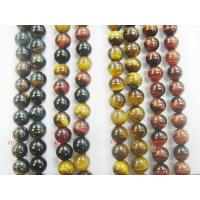 Cheap Custom Desiged 10mm Round Shaped Natural Tigereye Stone Semi Precious Gem Beads for sale