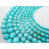 Best 8mm Blue Natural Turquoise stone Semi Precious Gem Beads  Handmade Jewelry wholesale