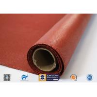 China Heat Resistance Fiberglass Fabric Roll / Silicone Coated Fiberglass Fire Protection Cloth on sale