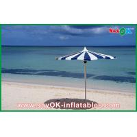 Promotional Beach Parasol Custom Printed Compact Windproof Umbrella
