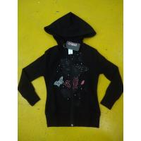 Best Little Girls Zip Up Hoodies Long Sleeve Cotton French Terry Zip Hoodie Butterfly Print wholesale