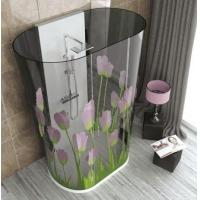 Best Tinted Curved Digital Printing Glass , Glass Shower Partition For Hotel wholesale
