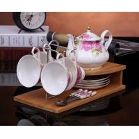 China Fashion coffee cup set fashion ceramic fashion cup porcelain tea set cup set 4 spoons on sale