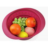 Best Silicone Collapsible Over The Sink Colander With Handle/Folding Strainer For Draining Fruit wholesale