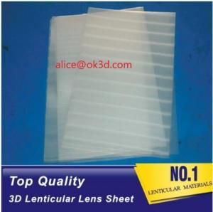Best 3D Lenticular Plastic materials 70LPI PET 0.9MM 60X80CM for 3d lenticular printing by injekt print and UV offset print wholesale