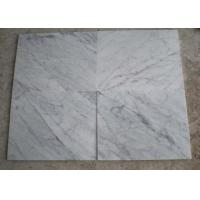 Cheap Polished White Carrara Marble Tile Slabs , Outdoor Floor Marble Garden Tiles for sale