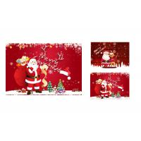 Best 12 x 17cm 2 Images 3d Lenticular Photo Merry Christmas Greeting Card For Gift wholesale