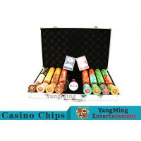 Best Texas Poker Chip Set / 11.5g Clay Casino Chip With Aluminum Case wholesale