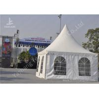 Quality White Aluminum Alloy Profile High Peak Party Tent Weather Resistance PVC Fabric Cover wholesale