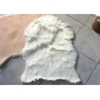 Best Anti Slip Soft White Australian Sheepskin Rug Durable With 60mm - 70mm Wool wholesale