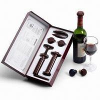 China Wine Accessory, Includes Wine Stopper, Wine Opener, Vacuum Pump and Foil Cutter on sale