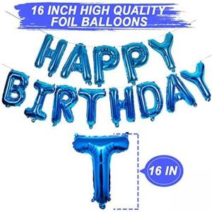 Best Gold Aluminum Foil Happy Birthday Balloons Banner for Birthday Party Decoration wholesale